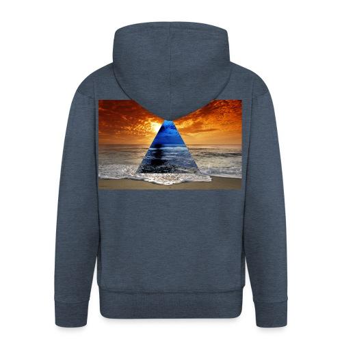 Sunset - Men's Premium Hooded Jacket