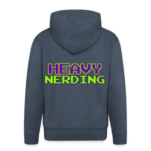 Logo heavy nerding - Felpa con zip Premium da uomo
