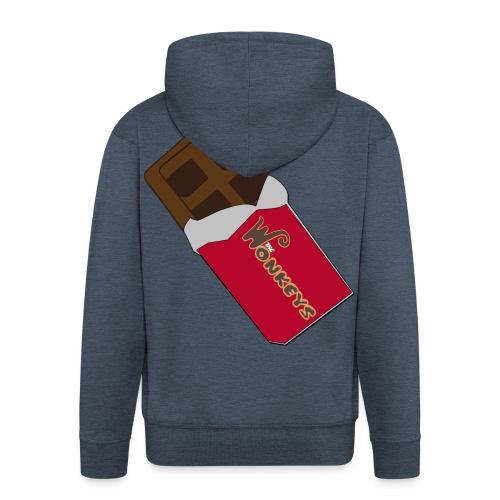 The Wonkeys Chocolate Edition - Felpa con zip Premium da uomo