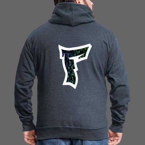 Rauch in Farben mit F Logo in Weiß - Männer Premium Kapuzenjacke