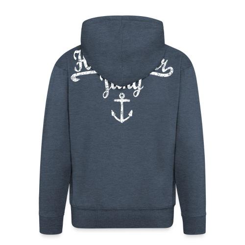 Hamburger Jung Klassik (Vintage Weiss) Hamburg - Männer Premium Kapuzenjacke