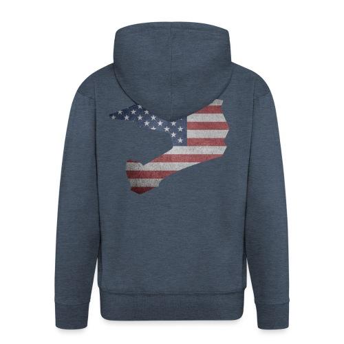 DOWNHILL HELM USA STYLE - Männer Premium Kapuzenjacke