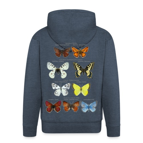Mariposas clasificación zoología - Chaqueta con capucha premium hombre