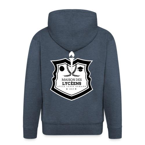 Logo MDL Lycée Louis Armand Noir et Blanc - Veste à capuche Premium Homme