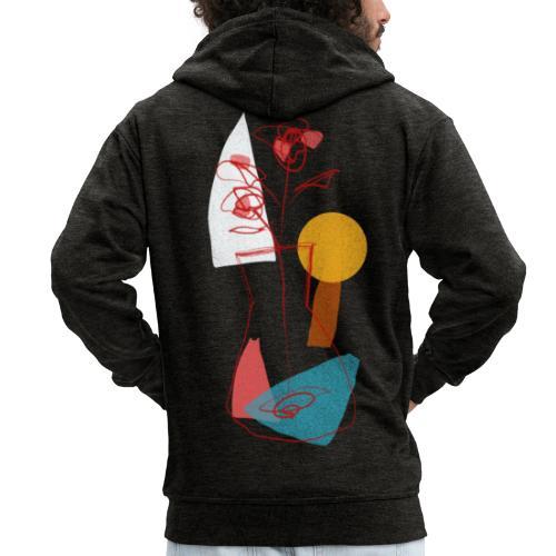 Abstract sun - Felpa con zip Premium da uomo