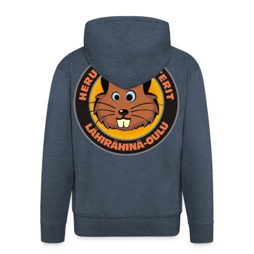 Herukan Hamsterit - Miesten premium vetoketjullinen huppari