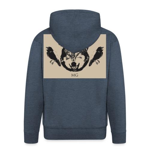 Wolf und Raben - Männer Premium Kapuzenjacke
