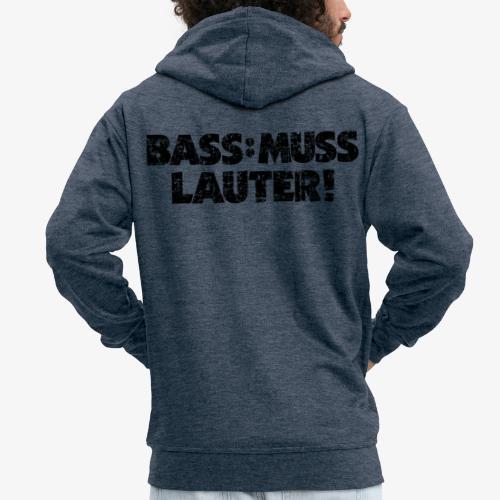 BASS MUSS LAUTER Vintage Schwarz - Männer Premium Kapuzenjacke