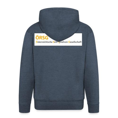 Text-Logo der ÖRSG - Rett Syndrom Österreich - Männer Premium Kapuzenjacke