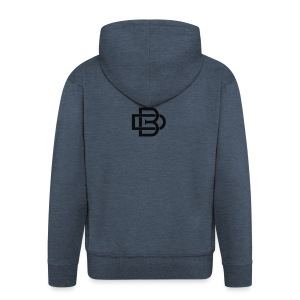 Black Monogram Logo - Men's Premium Hooded Jacket