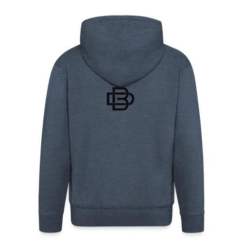 Black Monogram Logo - Men's Premium Hooded Jacket