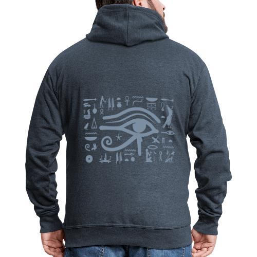 HORUS Hieroglyphen - Männer Premium Kapuzenjacke