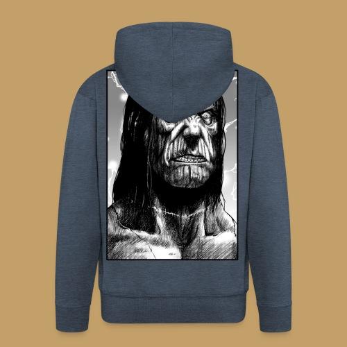 Frankenstein's Monster - Rozpinana bluza męska z kapturem Premium
