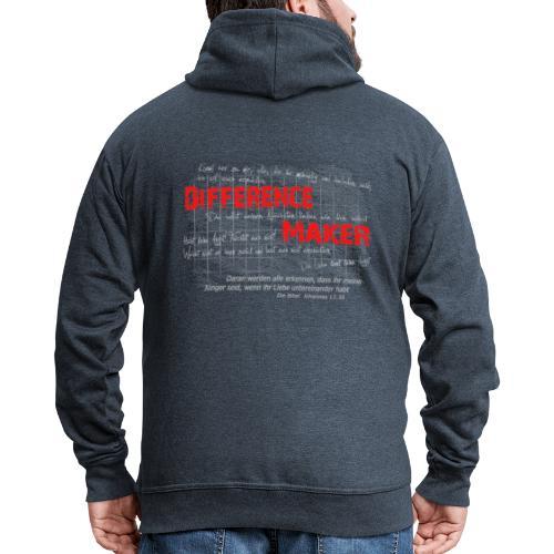 Difference Maker hell - Männer Premium Kapuzenjacke