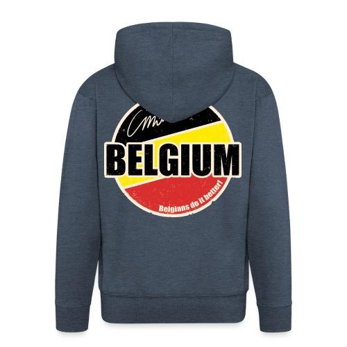 Cmon Belgium - Mannenjack Premium met capuchon
