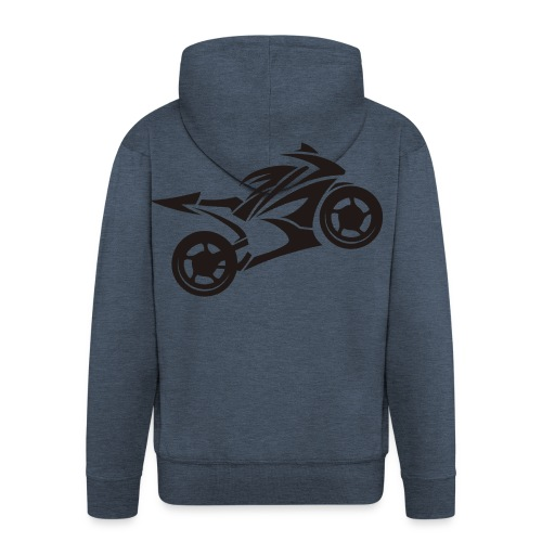 Motorcycle Wheelie - Männer Premium Kapuzenjacke