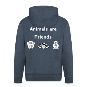 Animals are friends - Men's Premium Hooded Jacket