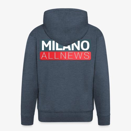 Milano AllNews Logo - Felpa con zip Premium da uomo