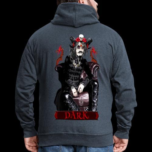 Créature gothique assise avec crânes et dragons - Veste à capuche Premium Homme