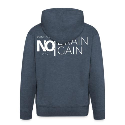 No Brain, No Gain - Collection 2017 - Blanc - Veste à capuche Premium Homme
