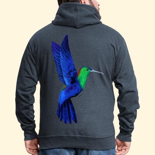 Colibri bleu et vert - Veste à capuche Premium Homme