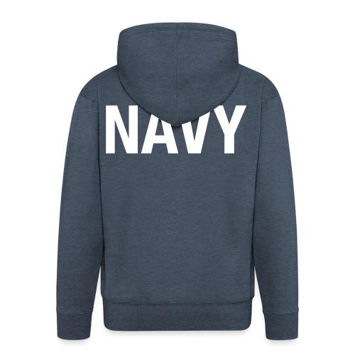 NAVY - Men's Premium Hooded Jacket