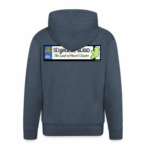 CO. SLIGO, IRELAND: licence plate tag style - Men's Premium Hooded Jacket