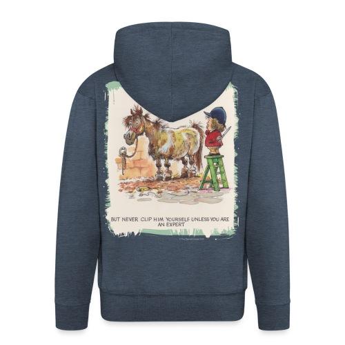 Thelwell Cartoon Pony beim Friseur - Männer Premium Kapuzenjacke