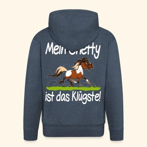 Mein Shetty das Klugste (Text weiss - Veste à capuche Premium Homme