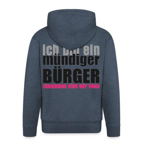 muendiger_buerger - Männer Premium Kapuzenjacke