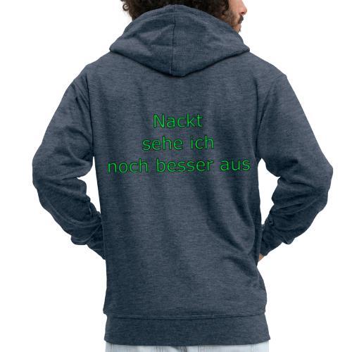 Nackt - Männer Premium Kapuzenjacke