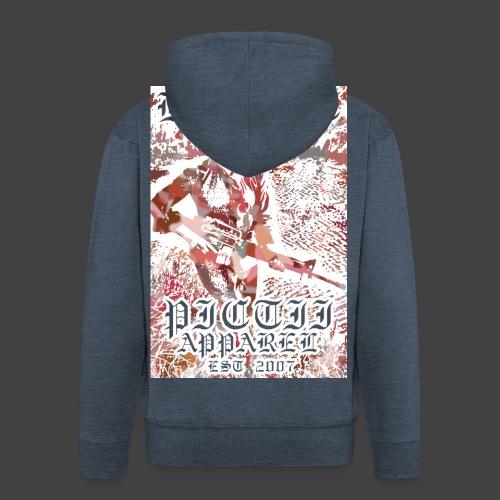 PICTRESIST4 - RED - Men's Premium Hooded Jacket