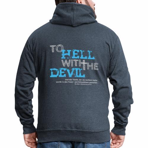 to hell with the devil blau - Männer Premium Kapuzenjacke