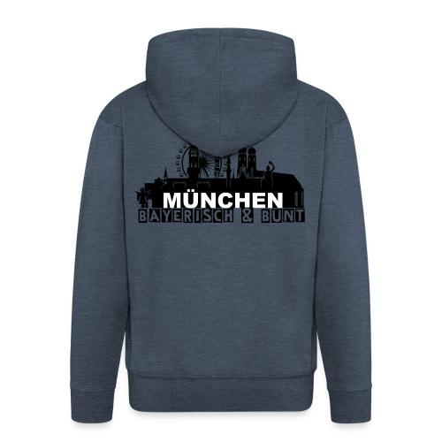 MUENCHEN BAYERISCH BUNT (LOGO SW) - Männer Premium Kapuzenjacke