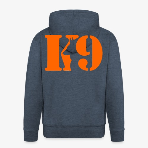 K9 CARDI ORANGE LOGO - Men's Premium Hooded Jacket