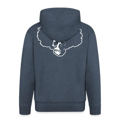 Afro Skull - Männer Premium Kapuzenjacke