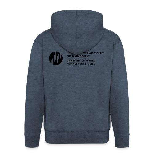 Logo_SW - Männer Premium Kapuzenjacke