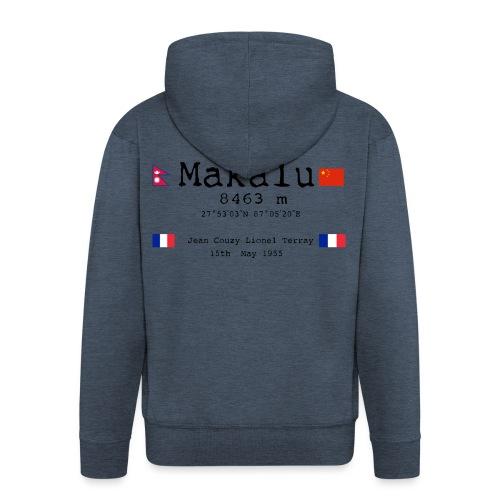 Makalublack - Felpa con zip Premium da uomo