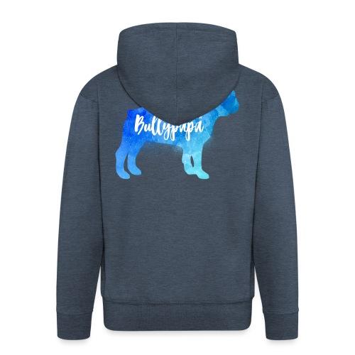 Liebender Bullypapa - Französische Bulldogge - Männer Premium Kapuzenjacke