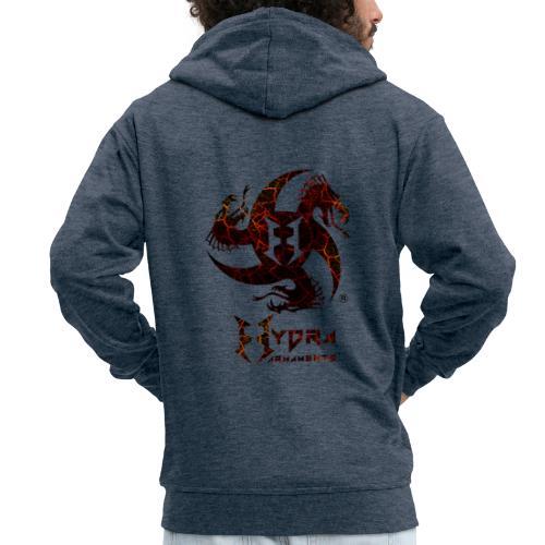 Cracked lava - Men's Premium Hooded Jacket
