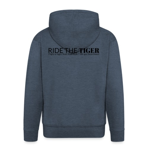 Ride the tiger logo black - Veste à capuche Premium Homme