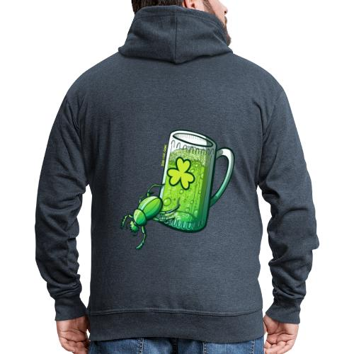 Saint Patrick's Day Beetle - Men's Premium Hooded Jacket