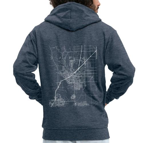 Minimal Vacaville city map and streets - Men's Premium Hooded Jacket