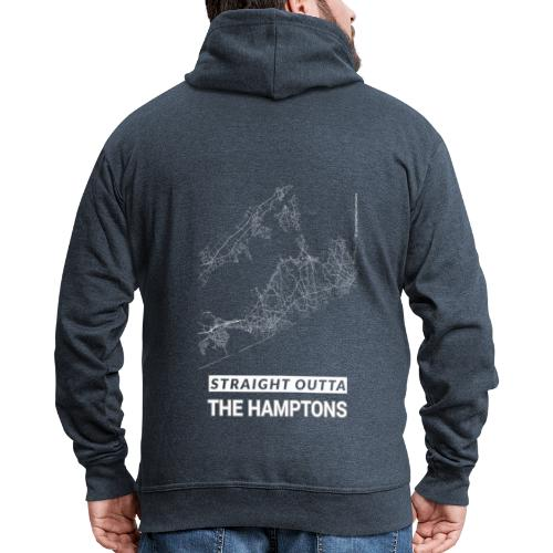 Straight Outta The Hamptons city map and streets - Men's Premium Hooded Jacket