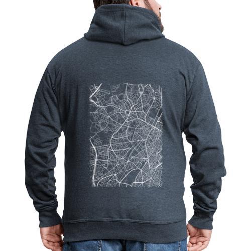 Minimal Molenbeek city map and streets - Men's Premium Hooded Jacket