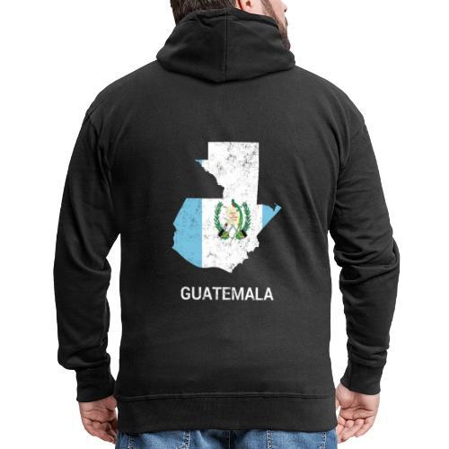 Guatemala country map & flag - Men's Premium Hooded Jacket