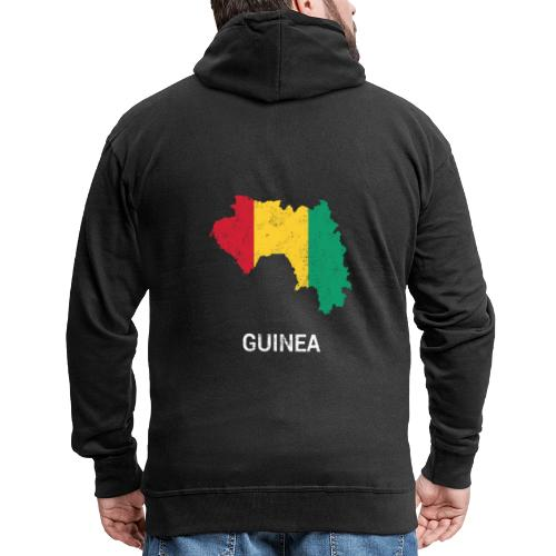Guinea ( Guinée Gine ) country map & flag - Men's Premium Hooded Jacket