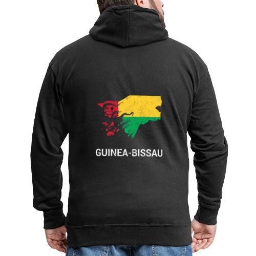Guinea-Bissau ( Guiné-Bissau ) country map & flag - Men's Premium Hooded Jacket