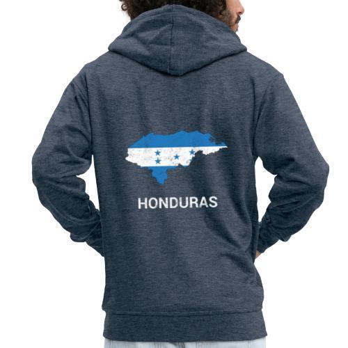 Honduras country map & flag - Men's Premium Hooded Jacket