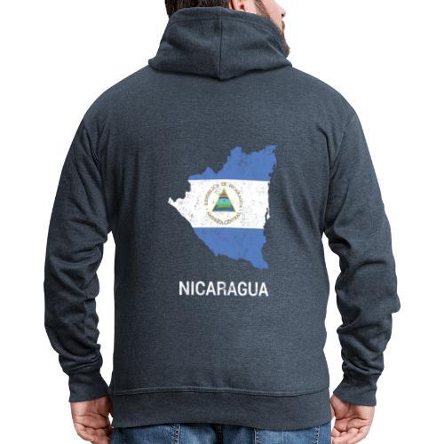 Nicaragua country map & flag - Men's Premium Hooded Jacket